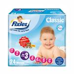 爱婴舒坦Fixies经典系列婴儿纸尿裤M24片