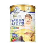 双熊鱼肉高蛋白配方奶米粉528g/罐