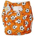 婴秀印花魔术贴布尿裤(橘黄色)