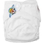 婴秀纯色按扣布尿裤(白色)