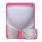 玛·维妮竹纤维无缝抗菌立体托腹孕妇内裤 白