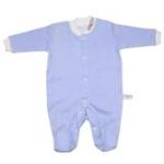babyglow贝若星体温检测婴儿服蓝色睡衣9-12个月
