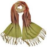 柏汇优品纯羊毛围巾特价促销款渐变绿色/赠羊毛兔毛手套一副