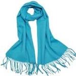 柏汇优品纯羊毛围巾特价促销款单色浅蓝色/赠羊毛兔毛手套一副
