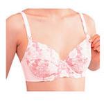 贝亲花边孕妇胸罩(粉色/D75)