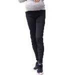 LOVESMAMA新款孕妇装秋冬韩版假口袋保暖弹力打底裤毛裤96178黑色均码