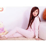 LOVESMAMA纯棉孕产妇两用哺乳内衣套装96279粉色L