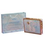 竹篓四方礼盒6件套-蓝色