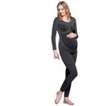 珂莉蒂花园一体成型孕妇发热纱保暖套装811W-3801