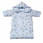 花儿开薄型袖子睡袋407(蓝色62*80cm)