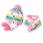 lemonkid双兔帽子+围巾粉色