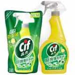 晶杰厨房强效清洁剂(清新柠檬)+补充袋装(500g+400g)