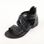 兔仔唛TUZAMA大女童新款罗马水钻公主凉鞋黑色30码