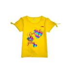 李宁女童针织T恤1TSE204066耀黄色130