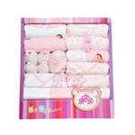 贝衣贝四季通用款纯棉婴儿十五件套宝宝大礼盒粉色