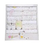 达梦贝比四季款婴儿纯棉十五件套宝宝大礼盒棕点