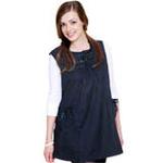 优加百分之三十金属纤维孕妇防辐射服-两侧可调式双袋丝带衫YJ-F005藏青XL