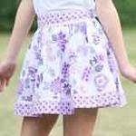 凡兜童装女童平织短裙181290085浅紫/160