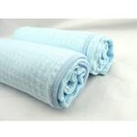 美亲竹纤维双层空调毯蓝色