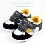 babybubbles婴童鞋156-6002-121白/黑25/165