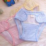小富兰克竹纤维透气婴儿尿裤1054/蓝色/M