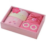 日本内野UCHINO系列樱花套装毛巾礼盒4