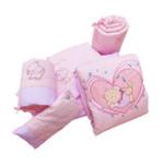 婴妮儿咿呀咿咪婴儿床品空调被床围12件套/粉色(预付款)