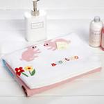 日本内野ACCOTOTO海天大地动物单面纱布浴巾-粉色