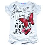 雪精灵女童短袖T恤X2-1211白色/150