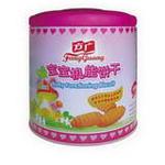 方广宝宝机能饼干(毛毛虫造型)3合1(原味+蛋黄+草莓味)180g