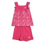 阿迪达斯adidasw45269女婴童夏日套装超群粉/尊贵黄86