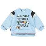 E-baby如意宝贝探险小英雄保暖上衣E115155浅蓝/90