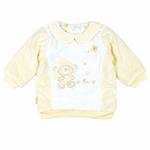E-baby如意宝贝滑冰派克肩开保暖上衣E115162浅黄/80