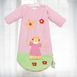 睡王跳舞的小姑娘宝宝天鹅绒长袖婴幼儿睡袋(粉色)