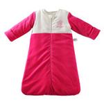 琪凯宝宝天鹅绒系列女婴睡袋长袖款115075红色66cm