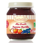 法国Babybio有机苹果蓝莓泥