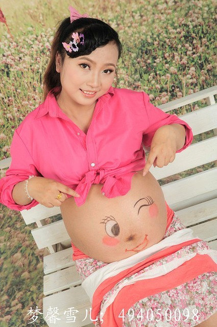 双胞胎孕妇照_孕双胞胎六个月孕妇照_现在32周啦!_宝宝树