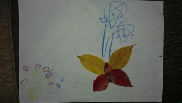属于秋天的手工, 树叶贴画