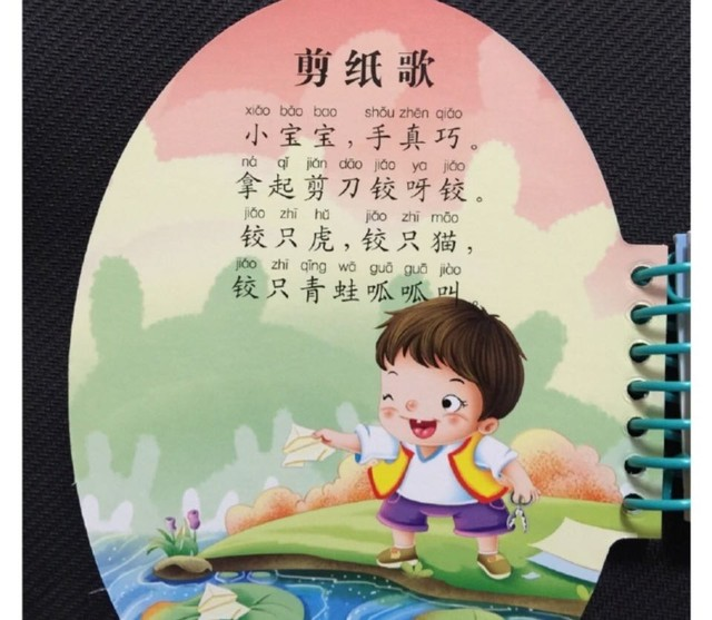 一些简单上口的儿歌童谣,麻麻们没事儿就给宝宝读