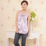 利乃康100%银纤维孕妇装防辐射肚兜170/92AXL(UBC-3105)浅紫色
